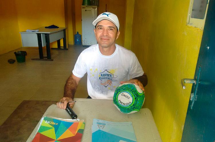 Delegado de Jogo Fenando Albuquerque no Campo da Macaxeira