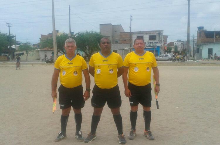 Trio de Arbitragem do jogo entre Sport e Escolinha Recreativa do Fernandinho da categoria Sub-13