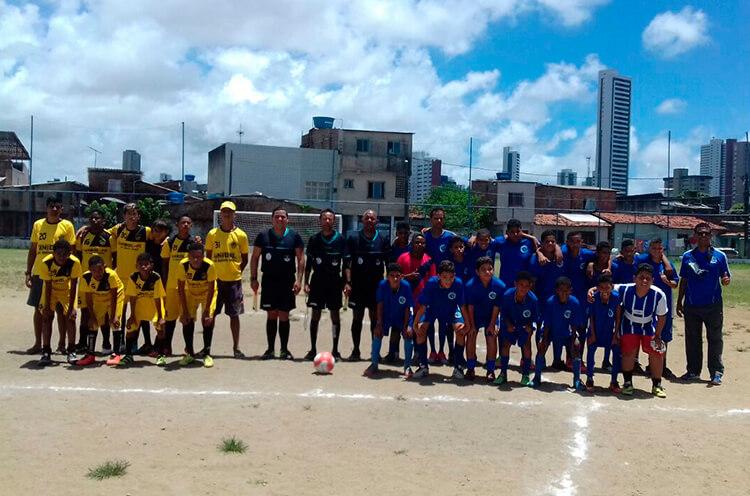 Categorias Sub-11 e Sub-13 no Campo do Cacique