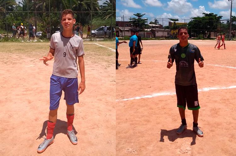 Destaques dos jogos Ítalo do Colégio Santa Tereza e Tiago do Centro Esportivo do Pina.