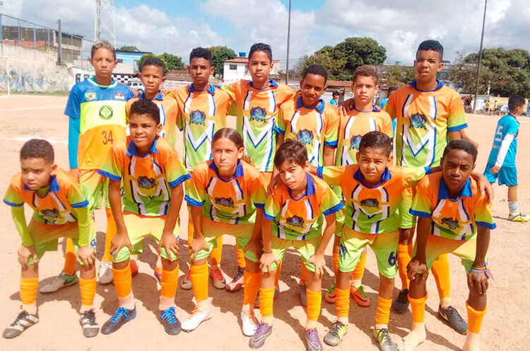 Equipe do sub 11 do Clube Esportivo União da Gávea - Enviada pelo whatsapp.