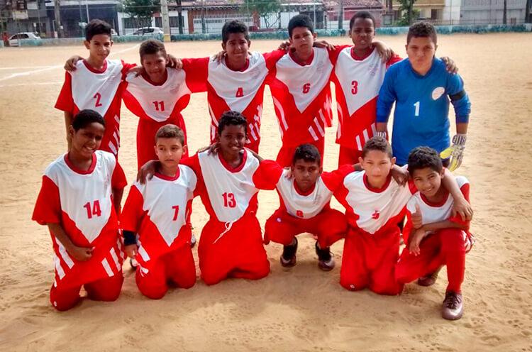 Equipe do sub 11 do Esporte Pulsante ISR - Enviada pelo whatsapp.