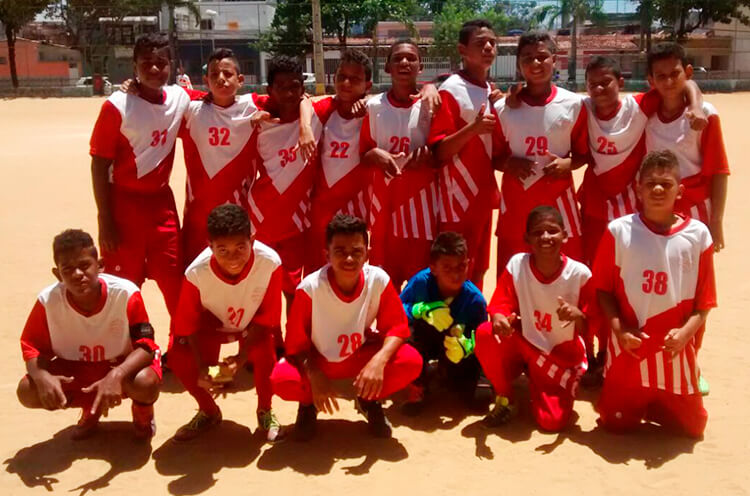 Equipe do sub 13 do Esporte Pulsante ISR - Enviada pelo whatsapp.