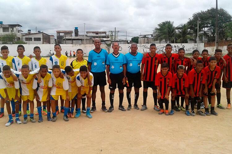 Equipes Sub-13 do Jovem Mirim e Mocidade