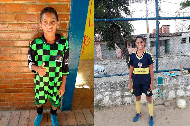 Destaques da partida - Alamys Oliveira, Equipe Pernambucanos, Sub-13 e Israelle Bianca, Equipe Nova Geração, Feminino